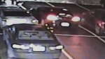 Police are looking for the driver of this black car, which they said was involved in a hit-and-run that left a man from Florida in critical condition.
