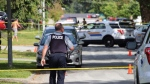 Police were on scene at 88th Avenue and Prestige Place in Surrey around 3 p.m. on Sunday June 25. (CTV)