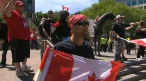 Anti-Islam rally in downtown Calgary