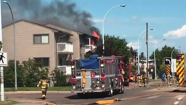 West end apartment building evacuated due to fire