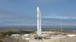 A SpaceX Falcon 9 rocket is seen before lift off Sunday, carrying 10 more satellites for Iridium Communications, from Vandenberg Air Force Base, Calif. on Sunday, June 25, 2017. (SpaceX)