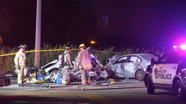 Two children, one adult dead in late-night Mississauga crash