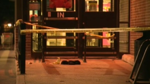 Police blocked off an area in Winnipeg's west end Sunday night due to what they called a serious incident.