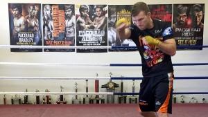 Boxer Jeff Horn trains in a gym in Brisbane, Australia, Monday, June 26, 2017. (John Pye / AP)