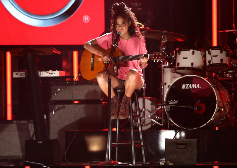 Jessie Reyez performs at the BET Awards at the Microsoft Theater on Sunday, June 25, 2017, in Los Angeles. (Photo by Matt Sayles/Invision/AP)