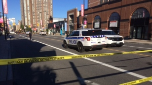 Ottawa Police investigate an overnight shooting on Rideau Street, near Augusta.that left one man dead on Monday, June 26, 2017.