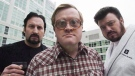 The Trailer Park Boys, John Paul Tremblay, as Julian, left, Mike Smith, as Bubbles, centre, and Robb Wells, as Ricky, right, pose for a photograph in Toronto on Thursday, November 27, 2008. The (THE CANADIAN PRESS/Nathan Denette)