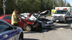 CTV Ottawa: Two crashes along Mitch Owens Rd