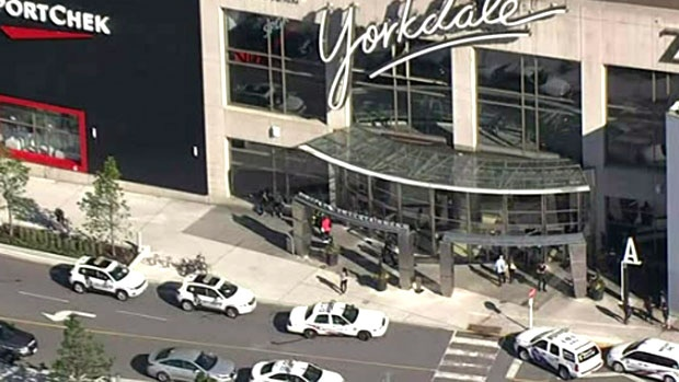 Police respond to a stabbing at Yorkdale Shopping Centre Monday June 26, 2017.