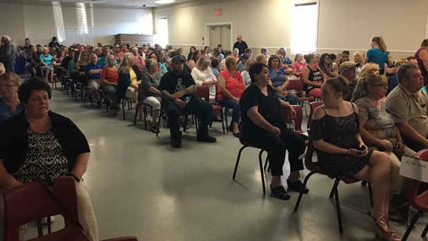 Dozens attend a public meeting in North Sydney, N.S., to address the recent string of teen suicides in Cape Breton.