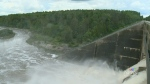 Inside the Shand Dam as flood waters recede