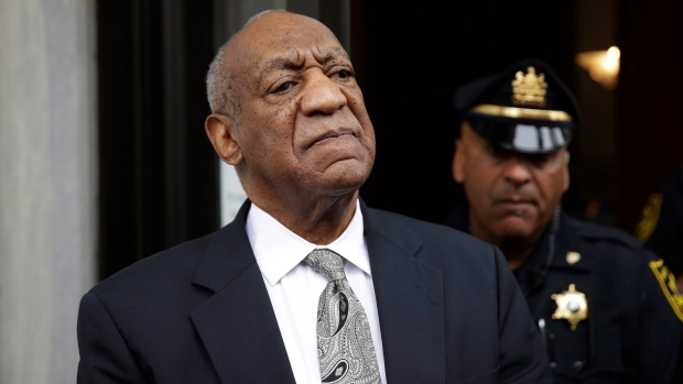 Bill Cosby exits the Montgomery County Courthouse in Norristown, Pa. on  Saturday, June 17, 2017. (AP)