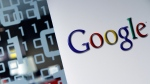 The Google logo displayed at the Google headquarters in Brussels, on March 23, 2010. (Virginia Mayo / AP)