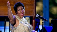 In this April 29, 2016 file photo, Aretha Franklin performs at the International Jazz Day Concert on the South Lawn of the White House of the Washington. (AP Photo/Carolyn Kaster, File)