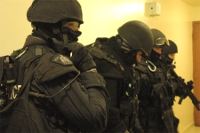 RCMP Emergency Response Team participates in the GTA raids as seen in this image provided by the Toronto Police Service.