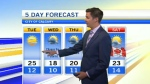 Calgary weather for June 27, 2017