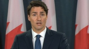 Trudeau speaking in Ottawa