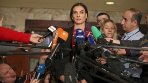 Former Russian pole vaulter Yelena Isinbayeva speaks to the media in Moscow, Russia on Dec. 9, 2016. (Pavel Golovkin/AP)