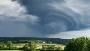 Maureen Foster snapped this photo of an ominous shelf cloud from her backyard in Middle Stewiacke NS