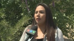 Trisha Alexson says she returned to the Saskatoon home she's rented for the past two years to find that her family's belongings had been thrown in the garbage.