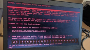 A cyber-attack that brought down a number of computer networks in Ukraine and Russia on Tuesday, June 27, 2017. (Twitter / mihirmodi)