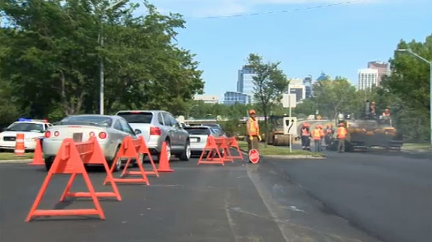 Calgarians will see scenes like this all over the city as paving season begins.
