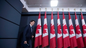 Prime Minister Justin Trudeau arrives for a media availability at the National Press Theatre in Ottawa on Tuesday, June 27, 2017. (THE CANADIAN PRESS / Justin Tang)