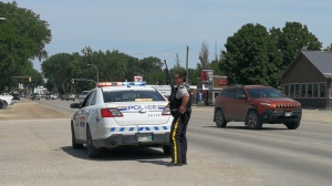 The Mounties said a vehicle was stopped at Panko's Food Store on Saskatchewan Avenue West. Two females were arrested, but one man ran off, reportedly armed with a long gun. (Source: PortageOnline.com)