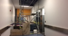 Wet ceiling tiles tipped staff off to a leaking pipe on the fifth floor of the downtown Winnipeg police headquarters building. (Source: Michelle Gerwing/CTV News)