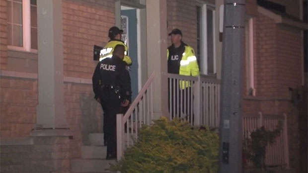 Police are investigating after shots were at a home in North York.