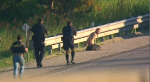 Police arrested one male following a dramatic police pursuit on Highway 400 on June 28, 2017.