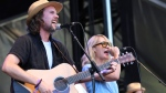 Kevin Drew, left, and Emily Haines of Broken Social Scene perform on day one of the inaugural 2017 Arroyo Seco Music Festival on Saturday, June 24, 2017, in Pasadena, Calif. (Photo by Joseph Longo/Invision/AP)