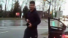 Mounties are trying to identify a man who pepper sprayed a car full of people in Coquitlam on April 17, 2017. (Handout)