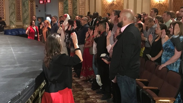 Forty residents were granted Canadian Citizenship at a special ceremony in Chatham-Kent, Ont., on Wednesday, June 28, 2017. (Rich Garton / CTV Windsor)
