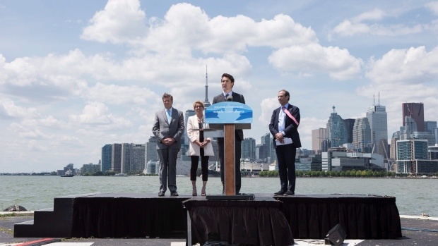 Toronto Port Lands annoucement