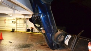 A 25-year-old suspect faces 13 charges including impaired driving and driving while prohibited. (RCMP)