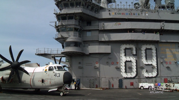 For the first time in two decades a US aircraft carrier has docked in Halifax Harbour. The USS Eisenhower is visiting as a part of Canada 150 celebrations. (CTV Atlantic)