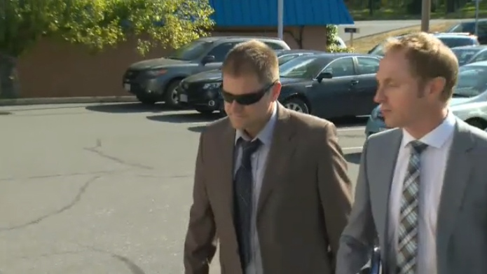 Kenneth Jacob Fenton enters Western Communities Courthouse in Colwood June 28, 2017. (CTV Vancouver Island)