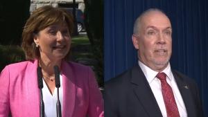 Clark, Horgan speak ahead of confidence vote