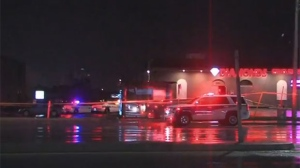 Police are investigating a shooting on Dundas Street East in Mississauga overnight.