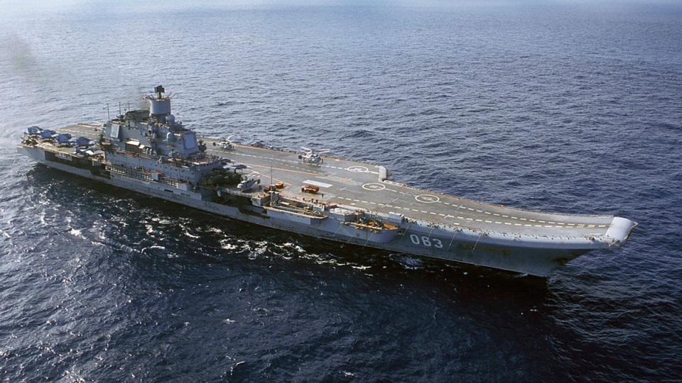 Admiral Kuznetsov aircraft carrier in 2004