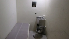 A solitary confinement cell is shown in a handout photo from the Office of the Correctional Investigator. (HO- Office of the Correctional Investigator/The Canadian Press)