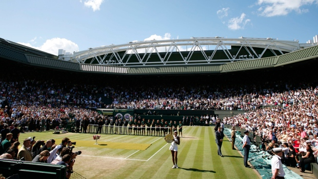 Centre Court at Wimbledon in 2008