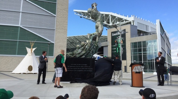 Art display unveiled at Mosaic Stadium