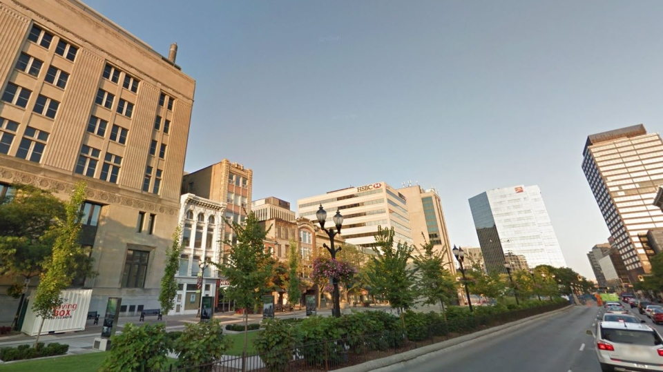 Gore Park in downtown Hamilton, Ont. (Google Streetview)