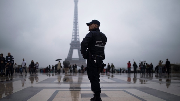 Driver held after trying to hit crowd outside Paris mosque