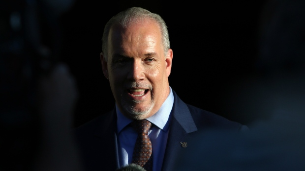 John Horgan speaks after meeting with Lt.-Gov.