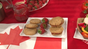 Strawberry Oatmeal Shortbread Cookies