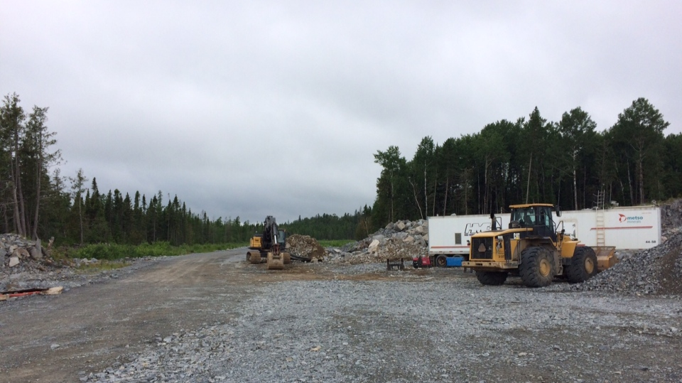 While a celebration was held Friday, construction started in the middle of May on the first portion of the road, which is an 8.7 kilometre stretch located on reserve land. (Source: Josh Crabb/CTV News)
