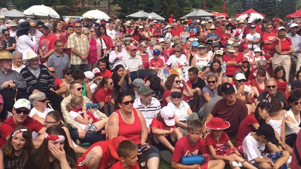 Canada Day crowd at Confederation Park
